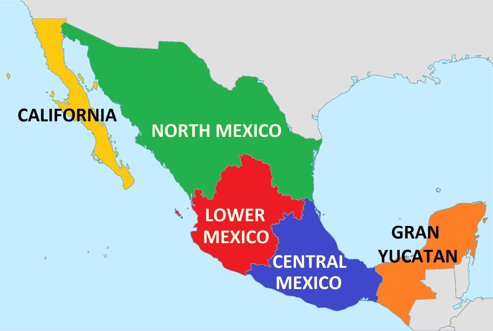Estados De México: Mapa Dos Estados De México
