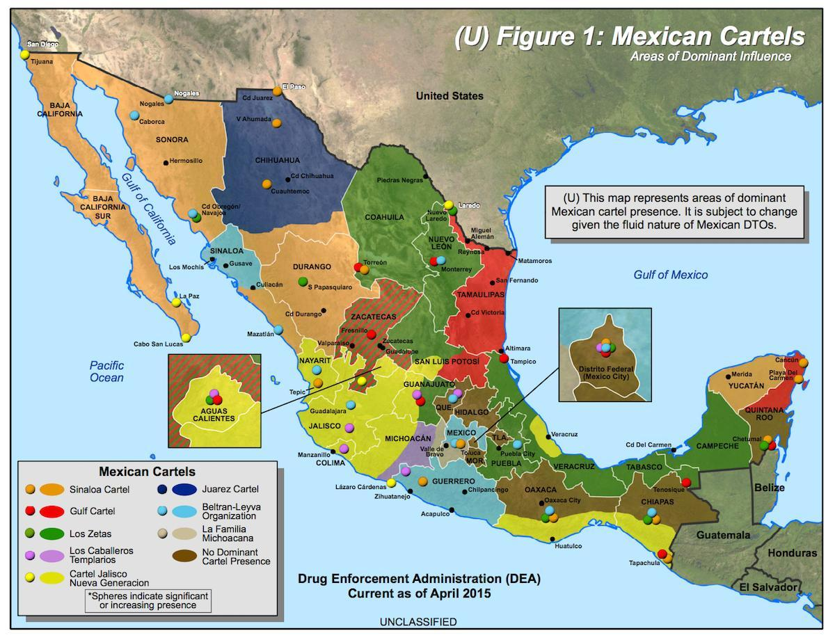 mexicano cartel mapa
